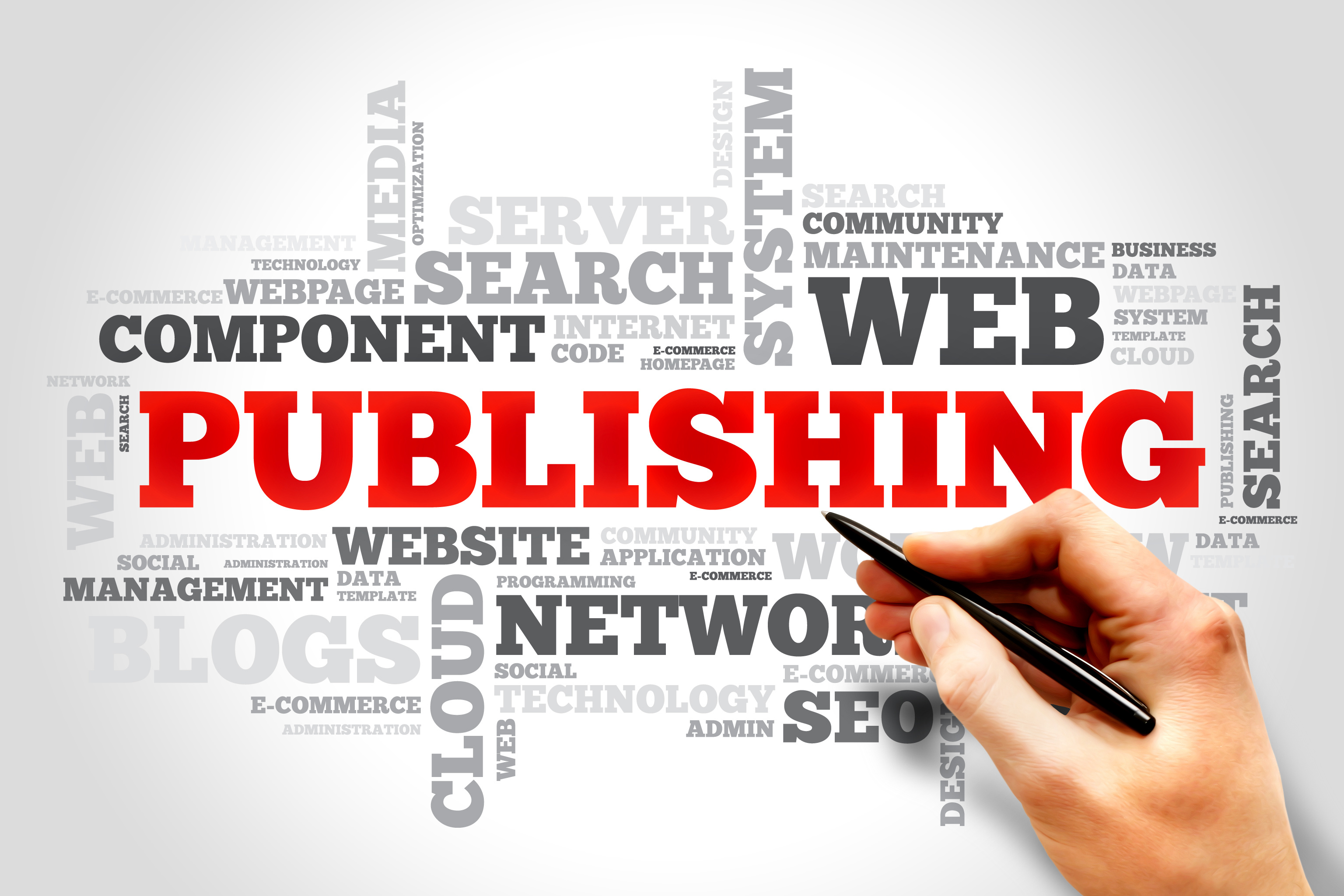 Publishing word cloud, business concept