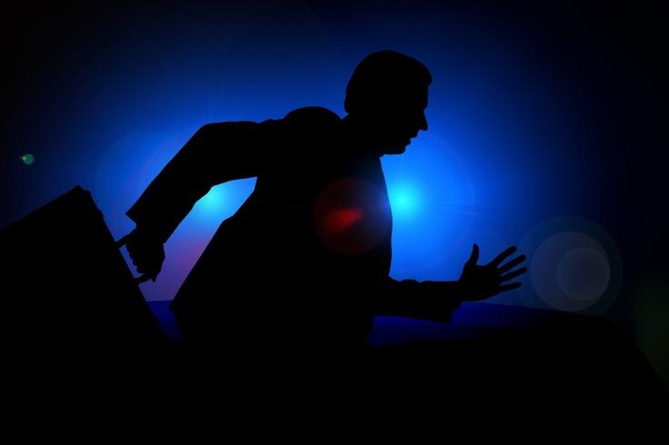 Crime man attempting escape image