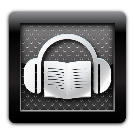 Audiobook metal icon
