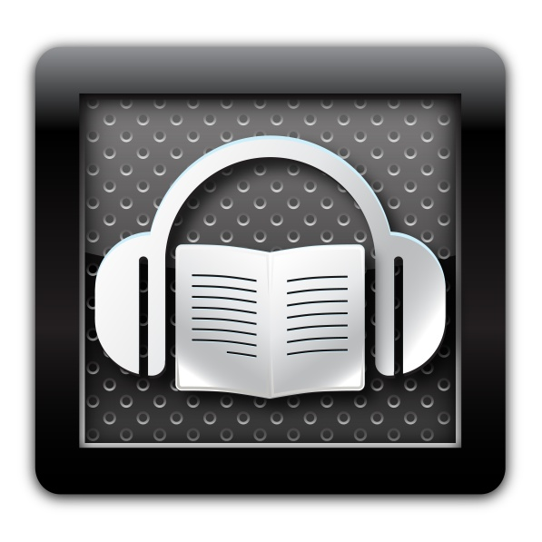 Audiobook metal icon