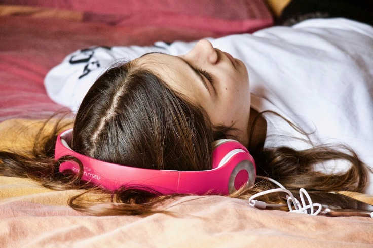 Girl on headphones