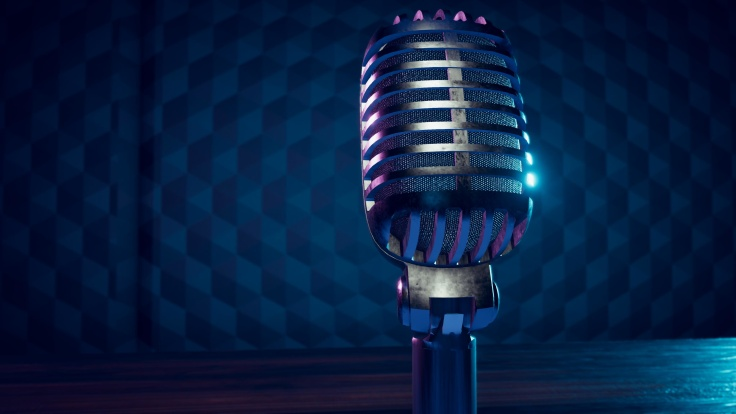 Vintage Broadcast Microphone