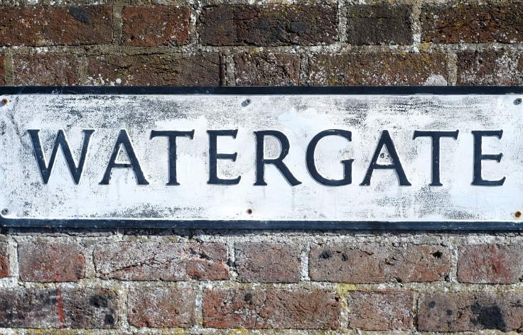 Watergate sign